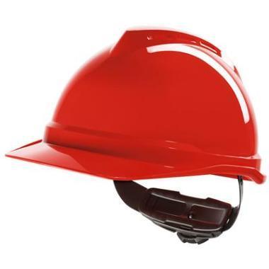 Helm MSA V-Gard 500 Draaiknop Rood
