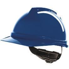 Helm MSA V-Gard 500 Draaiknop Blauw